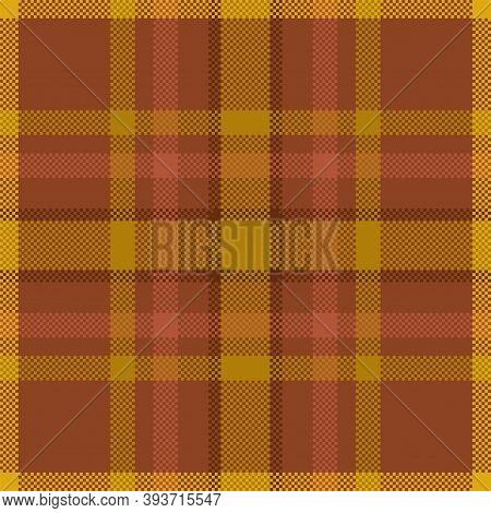Pixel Background Vector Design. Modern Seamless Pattern Plaid. Square Texture Fabric. Tartan Scottis