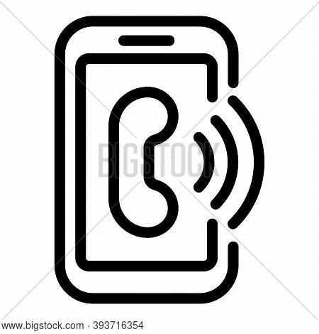 Smartphone Pay Icon. Outline Smartphone Pay Vector Icon For Web Design Isolated On White Background