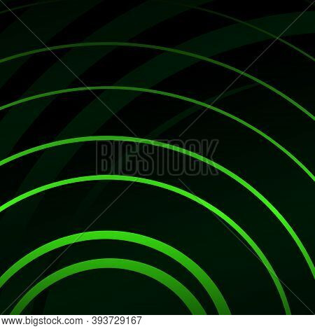 Graphic Pattern Of Spiral Twisting Stripes Of Different Shapes And Widths. Twisted Background.