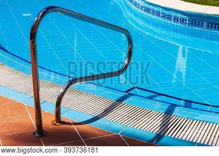 beautiful new pool, steel railings