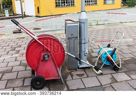 equipment for cleaning streets in the city