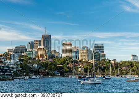 Sydney, Australia - Nov 15, 2017 :  Residential And Business Area Around Lavender Bay In North Sydne