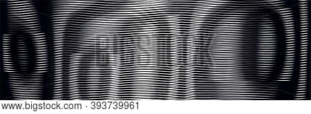 Monochrome Abstract Background With Moire Effect Of Lines. Can Be Used As Design Of Books, Websites,