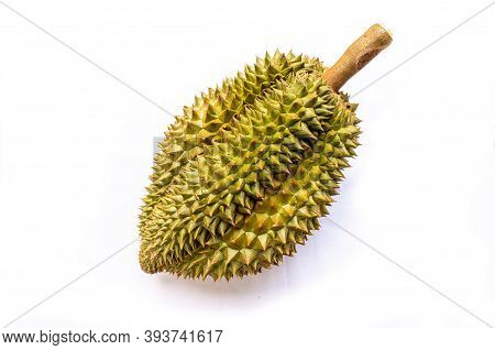Monthong Durian On White Background - Thai Fruit