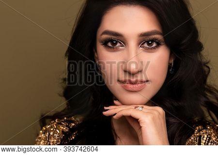 Very Beautiful Muslim Woman In Traditional Dress