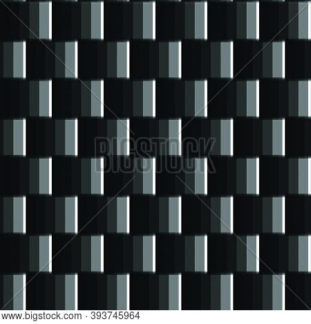 Black And White Abstract Vector Texture, Background Pattern Created From Geometric Shapes Such As Re