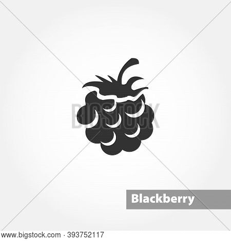 Blackberry Isolated Simple Solid Vector Icon On White Background