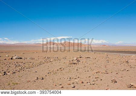 San Pedro De Atacama Desert Landscape, Chile. Andes Landscape
