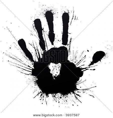 Powerful Handprint Splatter Blow