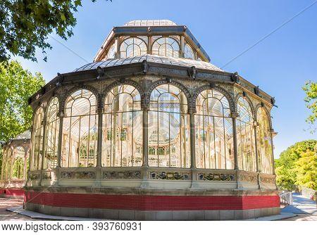 Crystal (glass) Palace In Buen Retiro Park, Madrid, Spain