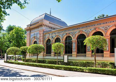 Velazquez Palace In Buen Retiro Park, Madrid, Spain