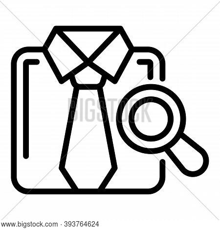 Inspect Shirt Icon. Outline Inspect Shirt Vector Icon For Web Design Isolated On White Background