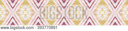Geometric Rug Pattern. Seamless Tie Dye Illustration. Ethnic Islamic Motif. Abstract Batik Motif. Pa