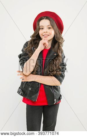 Outfit Ideas Every Stylish Girl Should Try. Girl Curly Hair Wear Leather Jacket. Little Rock Star Co