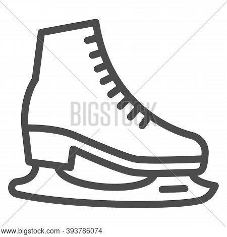 Skates Line Icon, World Snow Day Concept, Skating Sign On White Background, Hockey Skates Symbol In