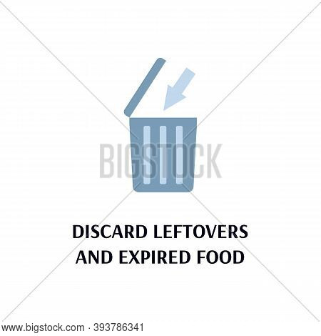 Banner Calling To Discard Leftovers And Expired Food To Prevent Poisoning And Bacterial Diseases Inc