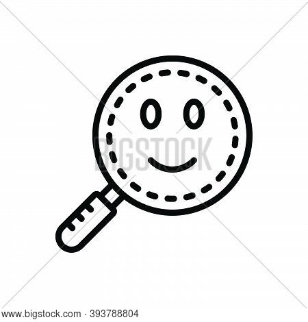 Black Line Icon For Found Finder Find Solution Analyzing Magnifying-glass Loupe Magnification Discov