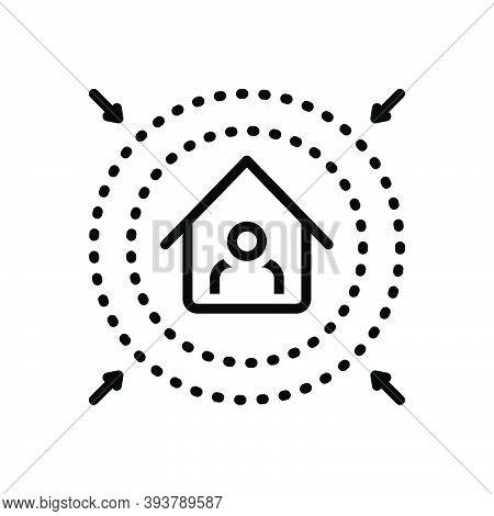 Black Line Icon For Prevent Intercept Fend Inhibit Clog Avoid Preclude House Protect