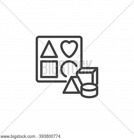 Sorter Puzzle Toy Line Icon. Linear Style Sign For Mobile Concept And Web Design. Sorter Toy Outline