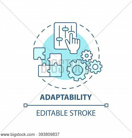 Adaptability Concept Icon. Creative Thinking Skills. Adjust Ability To Different Options. Respond To