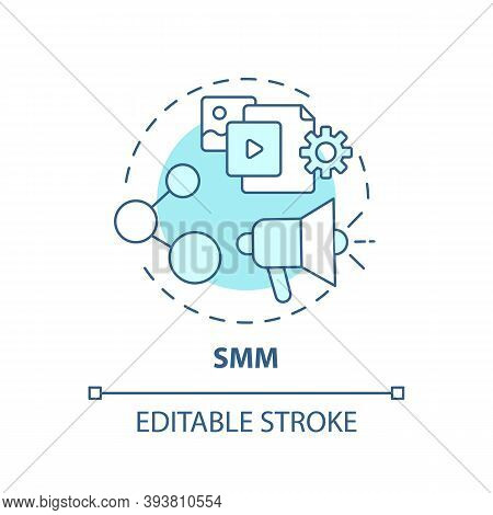 Smm Concept Icon. Careers In It For Creative Thinkers. Product Or Service Advertisement Using Social