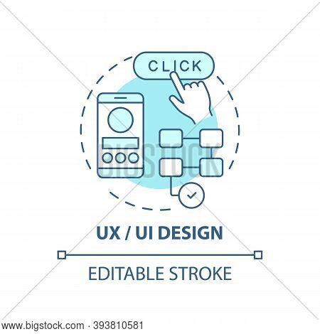 Ux And Ui Design Concept Icon. Careers In It For Creative Thinkers. Creating Easy To Use Website For
