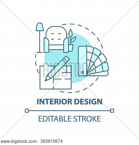 Interior Design Concept Icon. Top Careers For Creative Thinkers. House Fixing. Beautiful Flat Produc