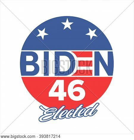 Us Presidential Election. Biden. 46th. Elected President. United States Of America Election Design.