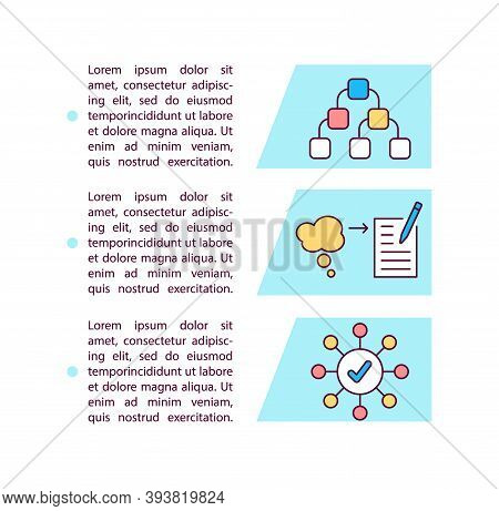 Mind Mapping Concept Icon With Text. Lateral Thinking. Strategy. Problem Solving. Ppt Page Vector Te