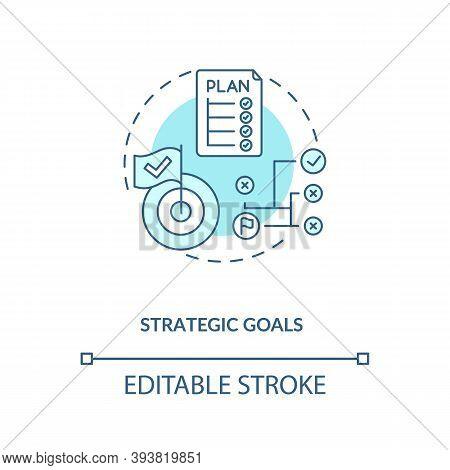 Strategic Goals Concept Icon. Mobile App Development Process. Sketching Plan For Application Creatio
