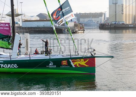 Les Sables D'olonne, France - November 08, 2020: Miranda Merron Boat (campagne De France) In The Cha