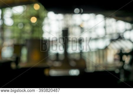 A Blurred Interior With Bokeh, For Compositions And Overlays