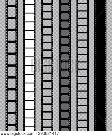 Film Strip For Movie Camera. Feel With Filmstrip. Tape With Frame For Photo, Cinema. Mockup Of Roll