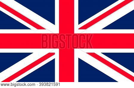 Flag Uk. Union Jack. British Icon. England Or Great Britain. English Background. Banner Of United Ki