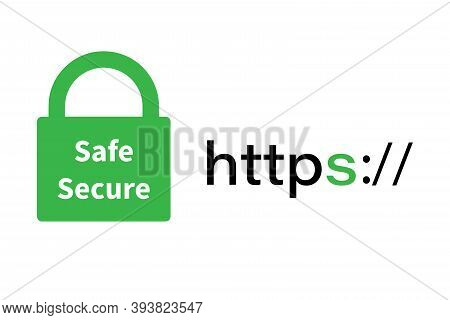 Secure Connection With Https.https Protocol-secure Browsing. The Concept Of Browser And Network Secu