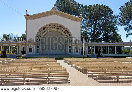 San Diego,ca - April 3,2014: Organ Pavilion In Balboa Park, San Diego, California,united States Of A