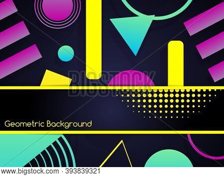Geometric Abstract Background Design. Modern Composition With Geometric Shapes. Trendy Geometric Bac