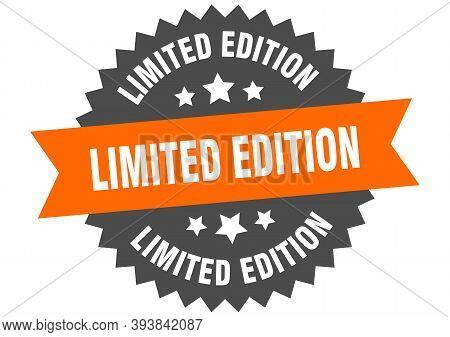 Limited Edition Sign. Limited Edition Orange-black Circular Band Label