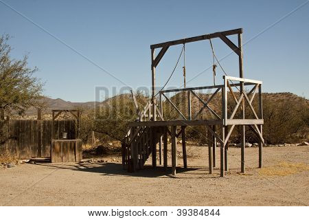 Gallows in a Western Town