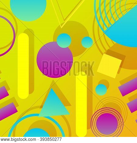 Modern Composition With Geometric Shapes. Geometric Abstract Background Design. Trendy Geometric Bac