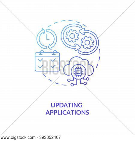 Updating Applications Concept Icon. Software Developer Skills. Creating New Functionaolity And Makin