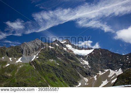 Panorama At The Alpine Pass Susten In Summer