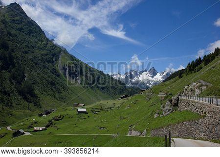 Alpine Pass Susten Between Uri And Bern