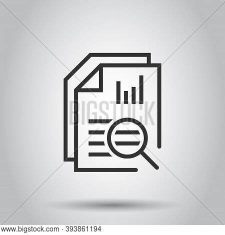 Financial Statement Icon In Flat Style. Result Vector Illustration On White Isolated Background. Rep