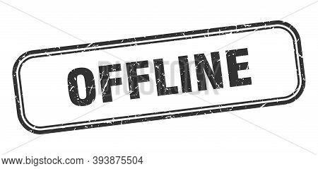 Offline Stamp. Offline Square Grunge Black Sign