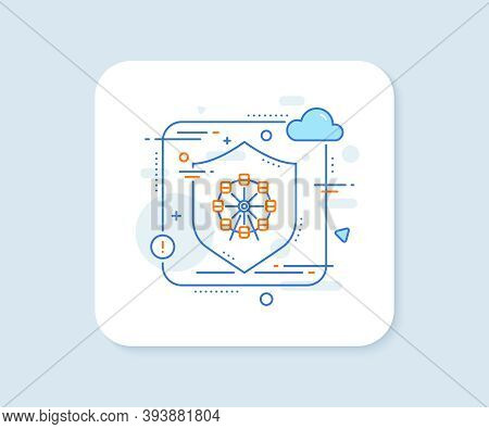 Ferris Wheel Line Icon. Abstract Vector Button. Amusement Park Sign. Carousels Symbol. Ferris Wheel