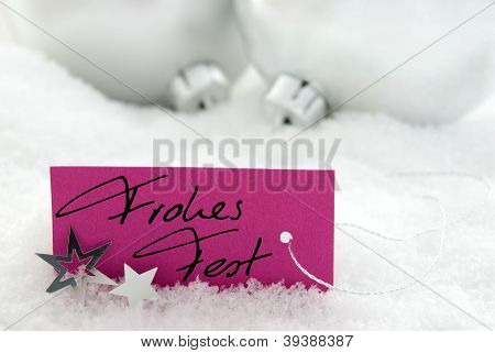 Handwritten Frohes Fest