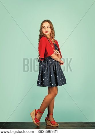 Retro Kid. Rise Of Vintage Fashion. Popularity Of Vintage Has Also Been Linked To Change In Consumer
