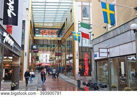 Gothenburg, Sweden - August 27, 2018: People Shop In Gothenburg, Sweden. Gothenburg Is The 2nd Large