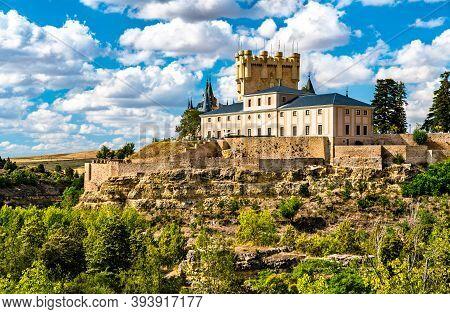The Alcazar Of Segovia, A Medieval Castle In Castile And Leon, Spain